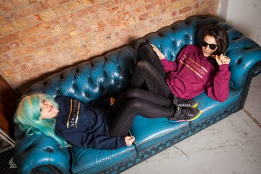 Scally Forever Sweatshirt | Two girls on couch